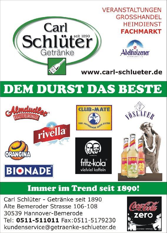 ▻ Carl Schlüter Getränkefachgroßhandel in Hannover, Alte Bemeroder ...